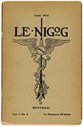 Page couverture de la revue «Le Nigog» telle que conçue par le peintre Ozias Leduc
