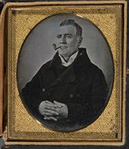 Artiste inconnu, Samuel Forget, Québec, 1851; daguerréotype, 8,3 x 7 cm (sixième de plaque); 9 x 8 cm (boîtier). Achat, 2007.182. (Photo MNBAQ, Patrick Altman).